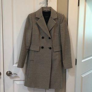 Striped spring pea coat